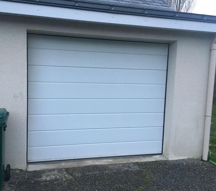Dov ouvertures porte de garage a refoulement plafond la chapelle sur erdre - Porte de garage a refoulement plafond ...